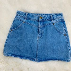 Denim Mini Skirt - 80s inspired Medium